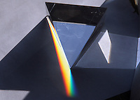 BOGOTA-COLOMBIA-3-02-2013 . Descomposición de la luz blanca por un prisma . Decomposition of white light through a prism.., (Photo / VizzorImage / Felipe Caicedo / Staff).