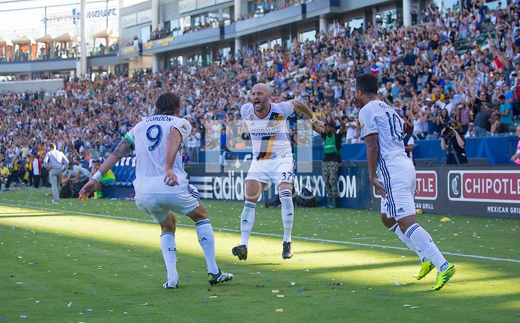 Carson, CA - September 11, 2016: The LA Galaxy take 3-1 lead over Orlando City SC in a Major League Soccer (MLS) match at StubHub Center.
