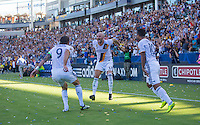 Carson, CA - September 11, 2016: The LA Galaxy take 3-1 lead over Orlando City SC in a Major League Soccer (MLS) match at StubHub Center.