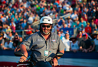 Mar 15, 2019; Gainesville, FL, USA; NHRA safety safari official Jeff Parker during qualifying for the Gatornationals at Gainesville Raceway. Mandatory Credit: Mark J. Rebilas-USA TODAY Sports