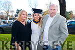 Carmel and John Patton, pictured with their daughter Rachel Patton, Tralee, who graduated in General Nursing from IT, Tralee on Friday morning last, at the Brandon Conference Centre, Tralee.