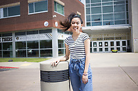 Bentonville High School senior Irene Huang poses for a portrait, Monday, May 4, 2020 at Bentonville High School in Bentonville. <br /> (NWA Democrat-Gazette/Charlie Kaijo)