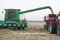 63801-06818 Farmer harvesting corn, Marion Co., IL