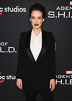"HOLLYWOOD - FEBRUARY 24:   Elizabeth Henstridge at 100th Episode Celebration of ABC's ""Marvel's Agents of S.H.I.E.L.D.""  at OHM Nightclub on February 24, 2018 in Hollywood, California.(Photo by Scott Kirkland/PictureGroup)"