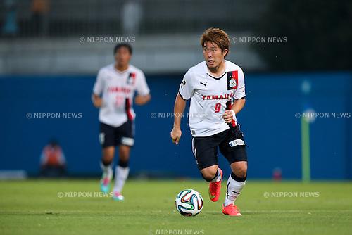 Ryohei Yamazaki (Jubilo), <br /> JULY 26, 2014 - Football /Soccer : <br /> 2014 J.LEAGUE Division 2 <br /> between Yokohama FC 4-0 Jubilo Iwata <br /> at NHK Spring Mitsuzawa Football Stadium, Kanagawa, Japan. <br /> (Photo by AFLO SPORT) [1205]