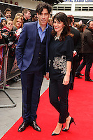 "Stephen Mangan and wife, Louise Delawere arrives for the ""Postman Pat"" premiere at the Odeon West End, Leicester Square, London. 11/05/2014 Picture by: Steve Vas / Featureflash"