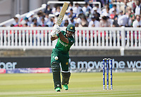 Fakhar Zaman (Pakistan) drives through the off side during Pakistan vs Bangladesh, ICC World Cup Cricket at Lord's Cricket Ground on 5th July 2019