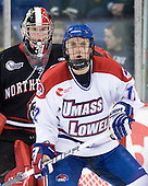 Chris Rawlings (Northeastern - 37), Josh Holmstrom (Lowell - 12) - The visiting Northeastern University Huskies defeated the University of Massachusetts-Lowell River Hawks 3-2 with 14 seconds remaining in overtime on Friday, February 11, 2011, at Tsongas Arena in Lowelll, Massachusetts.