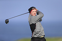 Alister McQuillan (UU) during the final of the Irish Students Amateur Open Championship, Tralee Golf Club, Tralee, Co Kerry, Ireland. 12/04/2018.<br /> Picture: Golffile | Fran Caffrey<br /> <br /> <br /> All photo usage must carry mandatory copyright credit (&copy; Golffile | Fran Caffrey)