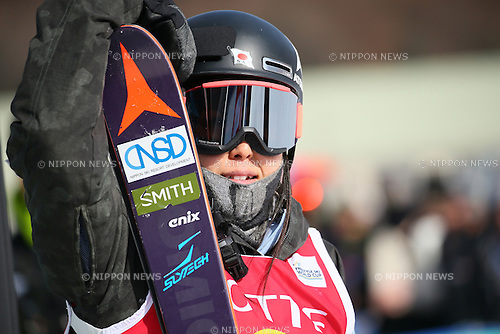Ayana Onozuka (JPN), <br /> FEBRUARY 18, 2017 - Freestyle Skiing : <br /> FIS Freestyle Ski World Cup <br /> Women's Ski Halfpipe Final <br /> at Bokwang Phoenix Park, PyeongChang, South Korea. <br /> (Photo by YUTAKA/AFLO SPORT)