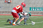 San Diego, CA 05/21/11 - Dominic Thomas (Cathedral Catholic #23) and Bobby Ferrar (Coronado #22) in action during the 2011 CIF San Diego Section Division 2 Varsity Lacrosse Championship between Cathedral Catholic and Coronado.