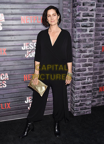 """HOLLYWOOD, CA - MAY 28: Carrie-Anne Moss attends a Special Screening Of Netflix's """"Jessica Jones"""" Season 3 at ArcLight Hollywood on May 28, 2019 in Hollywood, California.<br /> CAP/ROT/TM<br /> ©TM/ROT/Capital Pictures"""
