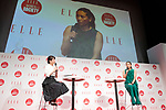 Japanese tennis player Kimiko Date (R) speaks during the ELLE WOMEN in SOCIETY 2018 on June 16, 2018, Tokyo, Japan. The annual event focuses on working women's role in the Japanese society through various seminars where top businesswomen, celebrities and leaders are invited to speak. (Photo by Rodrigo Reyes Marin/AFLO)