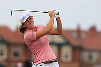 Celine Herbin (FRA) on the 2nd during Round 3 of the Ricoh Women's British Open at Royal Lytham &amp; St. Annes on Saturday 4th August 2018.<br /> Picture:  Thos Caffrey / Golffile<br /> <br /> All photo usage must carry mandatory copyright credit (&copy; Golffile | Thos Caffrey)