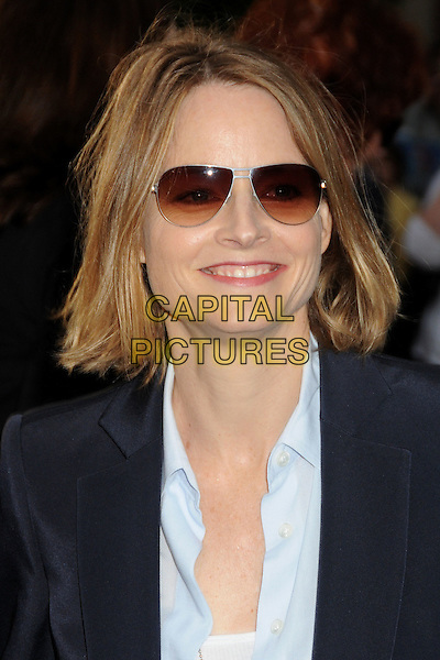 "JODIE FOSTER .""Pirates Of The Caribbean: On Stranger Tides"" World Premiere held at Disneyland, Anaheim, California, USA..May 7th, 2011.headshot portrait blue sunglasses shades .CAP/ADM/BP.©Byron Purvis/AdMedia/Capital Pictures."