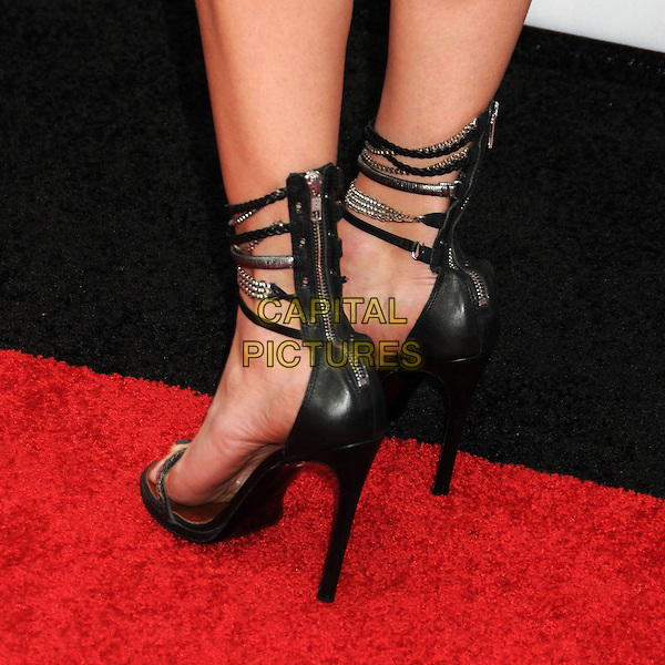 "Malin Akerman's shoes .Spike TV's 6th Annual ""Guys Choice"" Awards held at Sony Pictures Studios, Culver City, California, USA, .2nd June 2012..detail feet black ankle strap sandals open toe shoes heels zip up silver strappy .CAP/ADM/BP.©Byron Purvis/AdMedia/Capital Pictures."