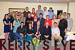 Fin Broderick, seated centre from Lisselton, who retired from Kerry Ingredients, Listowel is joined by work colleagues and family at his retirement party in The Listowel Arms Hotel on Friday night.