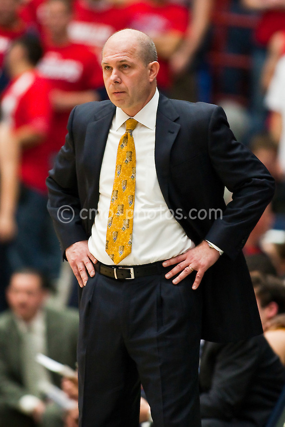 Jan 21, 2009; Tucson, AZ, USA; Arizona State Sun Devils head coach Herb Sendek in the first half of a game against the Arizona Wildcats at the McKale Center.  The Sun Devils won the game 53-47.