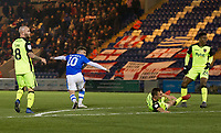 Sammie Szmodics of Colchester United turns to celebrate his stunning opening goal during Colchester United vs Exeter City, Sky Bet EFL League 2 Football at the JobServe Community Stadium on 24th November 2018
