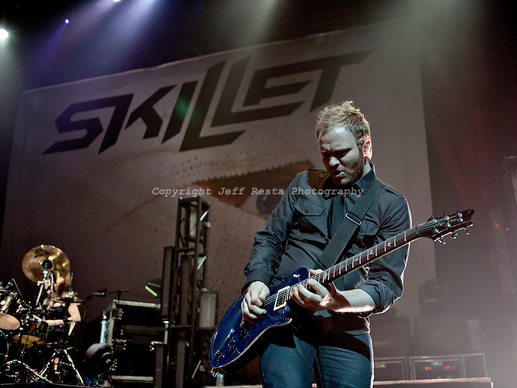 Skillet live in concert at Verizon Theatre on April 10, 2011 in Grand Prairie, TX. Avalanche Tour.