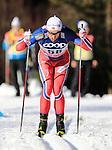 Petter Northug competes during the FIS Cross Country Ski World Cup15 Km Individual Classic race in Dobbiaco, Toblach a, on December 20, 2015. Norway's Martin Johnsrud Sundby wins. Credit: Pierre Teyssot