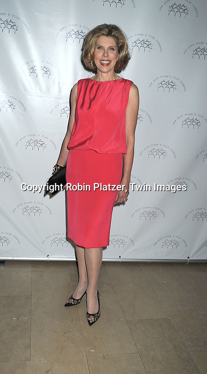 actress Christine Baranski in Gianbatistta Valli dress