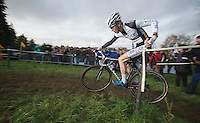 Jim Aernouts (BEL) giving himself a push<br /> <br /> Vlaamse Druivencross Overijse 2013