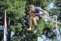 FIERLJEPPEN: GRIJPSKERK: 27-08-2016, Nederlands Kampioenschap Fierljeppen/Polsstokverspringen, Thewes Hobma, ©foto Martin de Jong