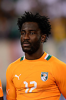 Ivory Coast defender Serge Aurier (17). Mexico defeated the Ivory Coast 4-1 during an international friendly at MetLife Stadium in East Rutherford, NJ, on August 14, 2013.