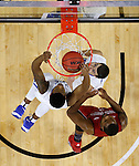 SIOUX FALLS, SD - MARCH 5:  Dunk by Deangelo Stewart #2 of Fort Wayne in the 2016 Summit League Tournament. (Photo by Dick Carlson/Inertia)
