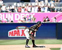 Ichiro Suzuki (Marlins), JUNE 15, 2016 - MLB : Ichiro Suzuki of Miami Marlins stands on the second base in the ninth inning during the Major League Baseball game between the San Diego Padres and the Miami Marlins  at PetCo Park in San Diego, California, United States. He raised his career total in the Japanese and North American major leagues to 4,257, passing Pete Rose's record Major League Baseball total. (Photo by AFLO)