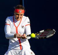 Agnes Szavay (HUN) against Olga Govortsova (BLR) in the first round of the women's singles. Agnes Szavay beat Olga Govortsova 3-6 6-2 7-6..International Tennis - 2010 Sony Ericsson WTA Tour - AEGON International - Devonshire Park Lawn Tennis Centre - Eastbourne - Day 1 - Mon 14 Jun 2010..© FREY - AMN Images - Level 1, 20-22 Barry House, 20-22 Worple Road, London, SW19 4DH.Tel - +44 (0) 208 947 0100.Email - mfrey@advantagemediannet.com.web - www.advantagemedianet.com