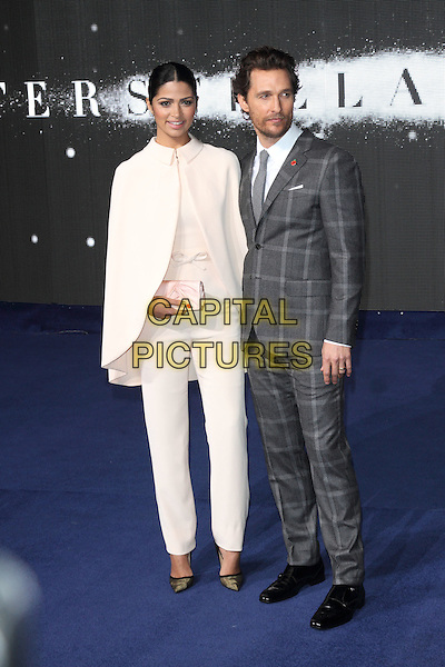 LONDON, ENGLAND - OCTOBER 29: Camila Alves &amp; Matthew McConaughey attend the &quot;Interstellar&quot; European film premiere, Odeon Leicester Square, on Wednesday October 29, 2014 in London, England, UK. <br /> CAP/ROS<br /> &copy;Steve Ross/Capital Pictures