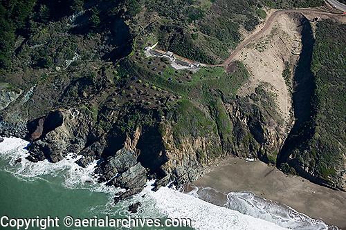 aerial photograph Baker Beach bunker Presidio of San Francisco