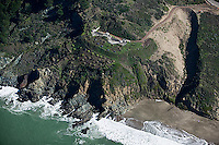 aerial photograph Baker Beach bunker Presidio of San Francisco