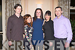 BALLYMAC GAA: Having a great time at the Ballymac GAA social at the Ballygarry House hotel and Spa on Saturday l-r: Vinny Begley, Delia Begley, Sinead Herve, Sheila McQuinn and Thomas McQuinn.