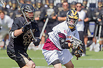 Orange, CA 05/17/14 - Connor Ervin (Colorado #33) and Justin Straker (Arizona State #8) in action during the 2014 MCLA Division I Men's Lacrosse Championship game between Arizona State and Colorado at Chapman University in Orange, California.  Colorado defeated Arizona State 13-12.