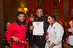 New York, NY - February 14, 2018: Chef Jernard Wells presents a Valentine's Day dinner at the James Beard House in Greenwich Village.<br /> <br /> CREDIT: Clay Williams for The James Beard Foundation.<br /> <br /> &copy;Clay Williams / http://claywilliamsphoto.com