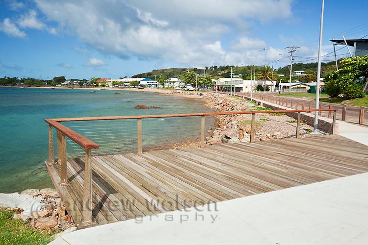 View along the Victoria Parade foreshore.  Thursday Island, Torres Strait Islands, Queensland, Australia