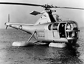 "The H-5 ""Dragon Fly"", originally designated the R-5 (H for Helicopter; R for Rotorcraft), was designed to provide a helicopter having greater useful load, endurance, speed, and service ceiling than the R-4. The first XR-5 of four ordered made its initial flight on August 18, 1943. In March 1944, the United Stares Army Air Force (AAF) ordered 26 YR-5As for service testing, and in February 1945, the first YR-5A was delivered.   During its service life, the H-5 was used for rescue and mercy missions throughout the world. It gained its greatest fame, however, during the Korean War when it was called upon repeatedly to rescue United Nations' pilots shot down behind enemy lines and to evacuate wounded personnel from frontline areas.   More than 300 H-5s had been built by the time production was halted in 1951..Credit: U.S. Air Force via CNP"