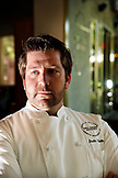 USA, California, Healdsburg, Chef Dustin Valette inside of Dry Creek Kitchen in Alexander Valley