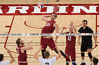 Stanford, CA - March 31, 2018: Stanford defeats Concordia 3-1 at Maples Pavilion.