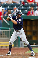 Nick Francis (3) of the Northwest Arkansas Naturals at bat during a game against the Springfield Cardinals at Hammons Field on July 31, 2011 in Springfield, Missouri. Northwest Arkansas defeated Springfield 9-1. (David Welker / Four Seam Images)