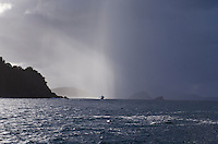 Stormy skies as a passenger ferry makes it's way from the U.S. to the British Virgin Islands