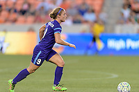 Josée Bélanger (9) of the Orlando Pride races up the field with the ball against the Houston Dash on Friday, May 20, 2016 at BBVA Compass Stadium in Houston Texas. The Orlando Pride defeated the Houston Dash 1-0.