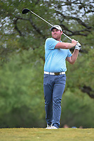 Grayson Murray (USA) watches his tee shot on 2 during Round 3 of the Valero Texas Open, AT&amp;T Oaks Course, TPC San Antonio, San Antonio, Texas, USA. 4/21/2018.<br /> Picture: Golffile   Ken Murray<br /> <br /> <br /> All photo usage must carry mandatory copyright credit (&copy; Golffile   Ken Murray)