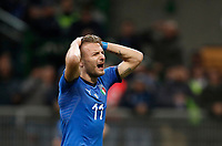 Soccer Football - 2018 World Cup Qualifications - Europe - Italy vs Sweden - San Siro, Milan, Italy - November 13, 2017 <br /> Italy's Ciro Immobile reacts during the FIFA World Cup 2018 qualification football match between Italy and Sweden at the San Siro Stadium in Milan on November 13, 2017.<br /> UPDATE IMAGES PRESS/Isabella Bonotto