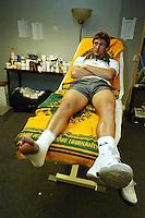 Ferrero in de ziekenboeg nadat hij door zijn enkel ging in zijn partij tegen Sluiter
