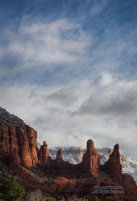 The Sisters after Winter Storm, near Sedona, Arizona