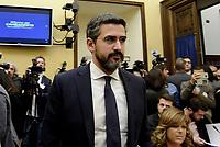Roma, 2 Ottobre 2018<br /> Riccardo Fraccaro.<br /> Conferenza stampa di Movimento 5 Stelle e Lega per la presentazione delle proposte di riforma costituzionale e diminuzione del numero dei parlamentari